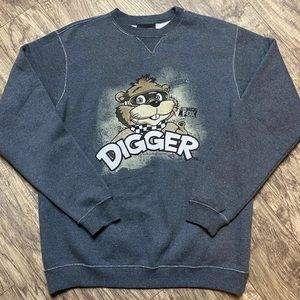 NASCAR Digger on Fox Crewneck Sweatshirt Gray L
